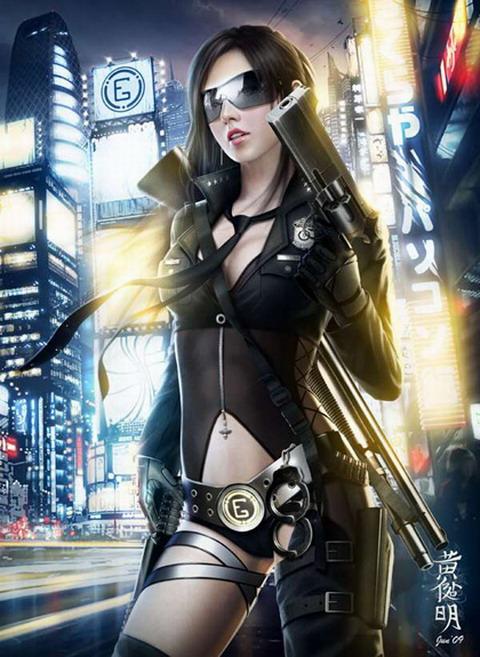 Cyberpunk-GunGirl